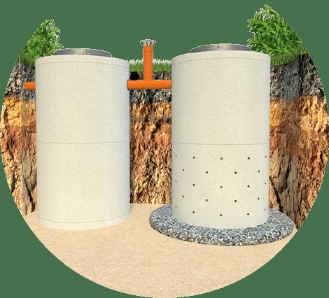 Автономная канализация из пластика