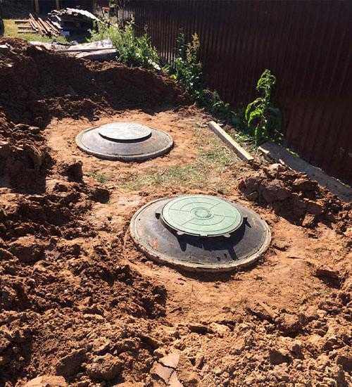 Как мы ставим бетонный септик под ключ