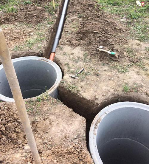 Как мы устанавливаем бетонный септик под ключ